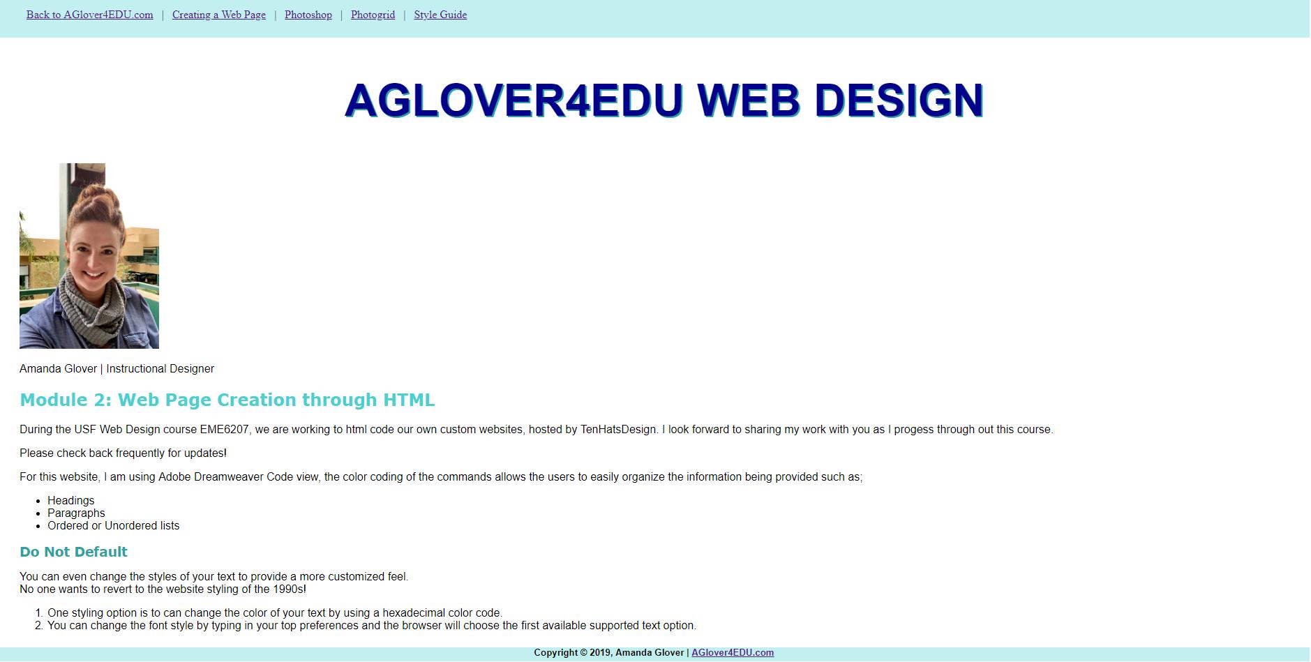 Instructional Design Amanda Glover Eportfolio Aglover Mail Usf Edu